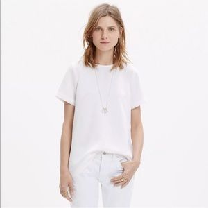 Madewell Tailored Tee Blouse L